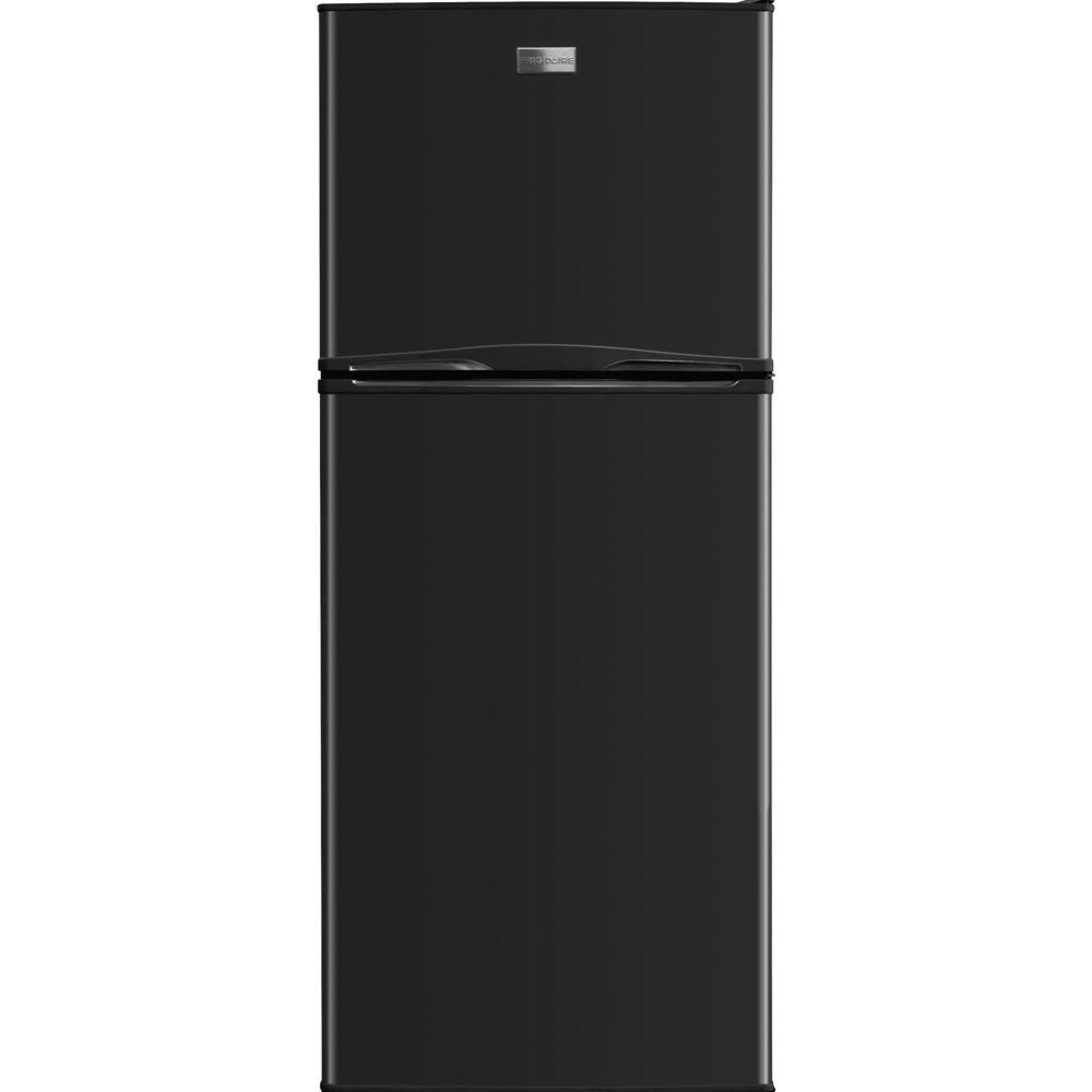 Frigidaire 10 Cu Ft Top Freezer Refrigerator In Black Fftr1022qb The Home Depot Refrigerator Top Freezer Refrigerator Black Refrigerator