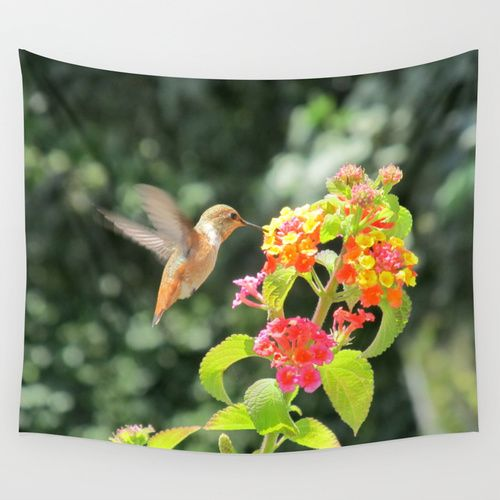 Radiant Nature Humming Away Wall Tapestry #walltapestry #tapestry ...