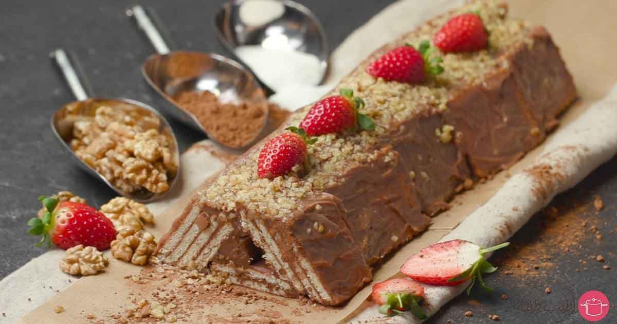 طريقة عمل كيكة البسكويت الباردة Recipe Food Arabic Sweets Desserts