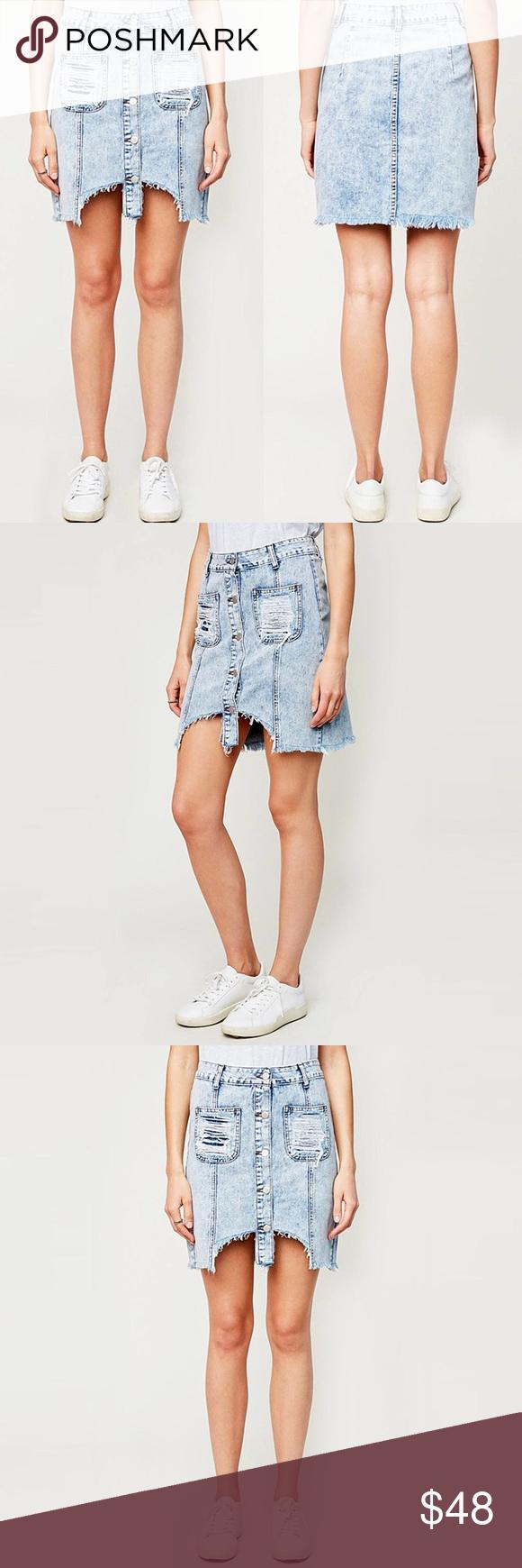 e2d5de6d2 Distressed Retro Loose fit Denim Skirt ❤ BUNDLES ❤ DISCOUNTS ❌ NO TRADES ❌