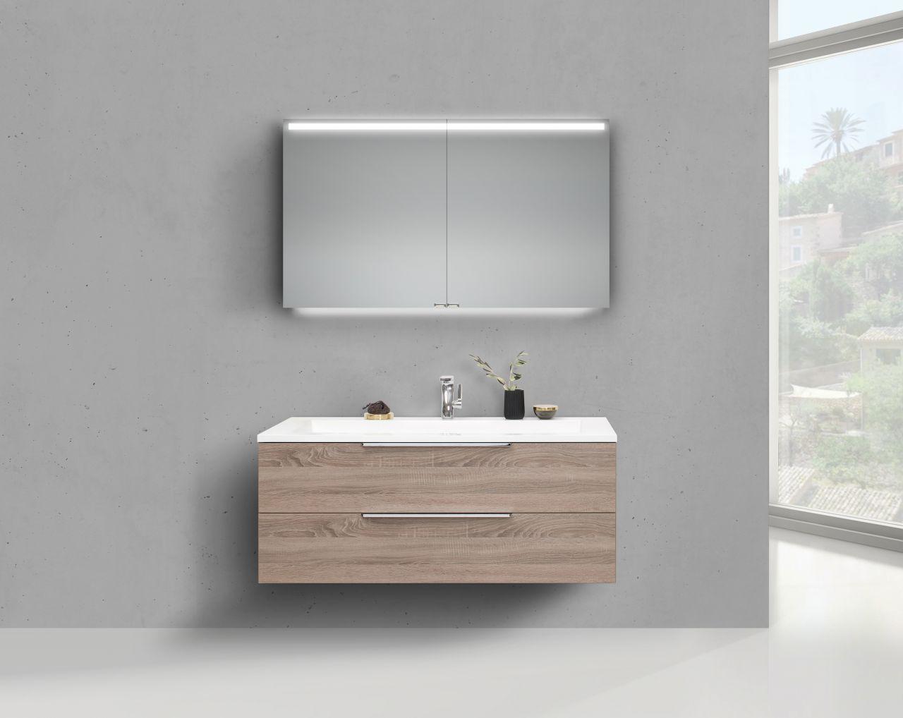 badmobel doppelwaschbecken, intarbad cubo 1200 doppelwaschbecken mit unterschrank und led, Design ideen
