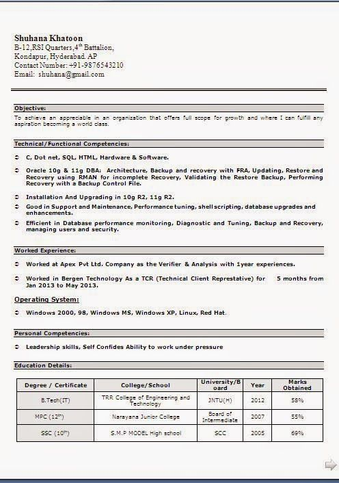 entry level resume format Sample Template Example ofExcellent - entry level resume format