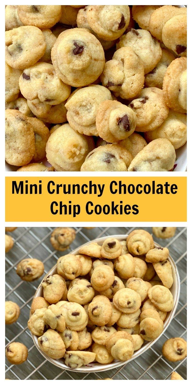 Mini Crunchy Chocolate Chip Cookies