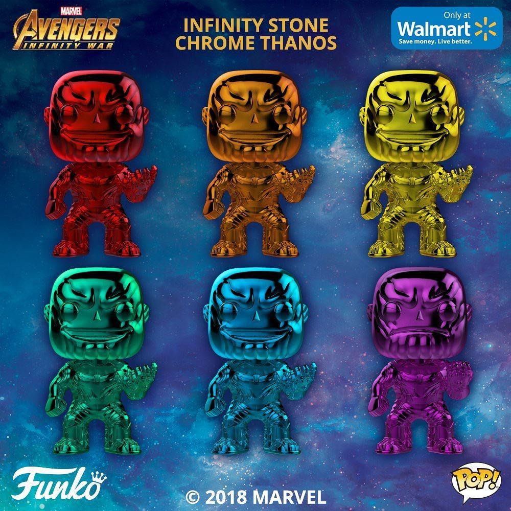 Chrome Thanos Walmart Exclusives are coming later this month
