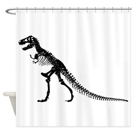 T Rex Skeleton Shower Curtain By Kevin Shower Curtain Curtains