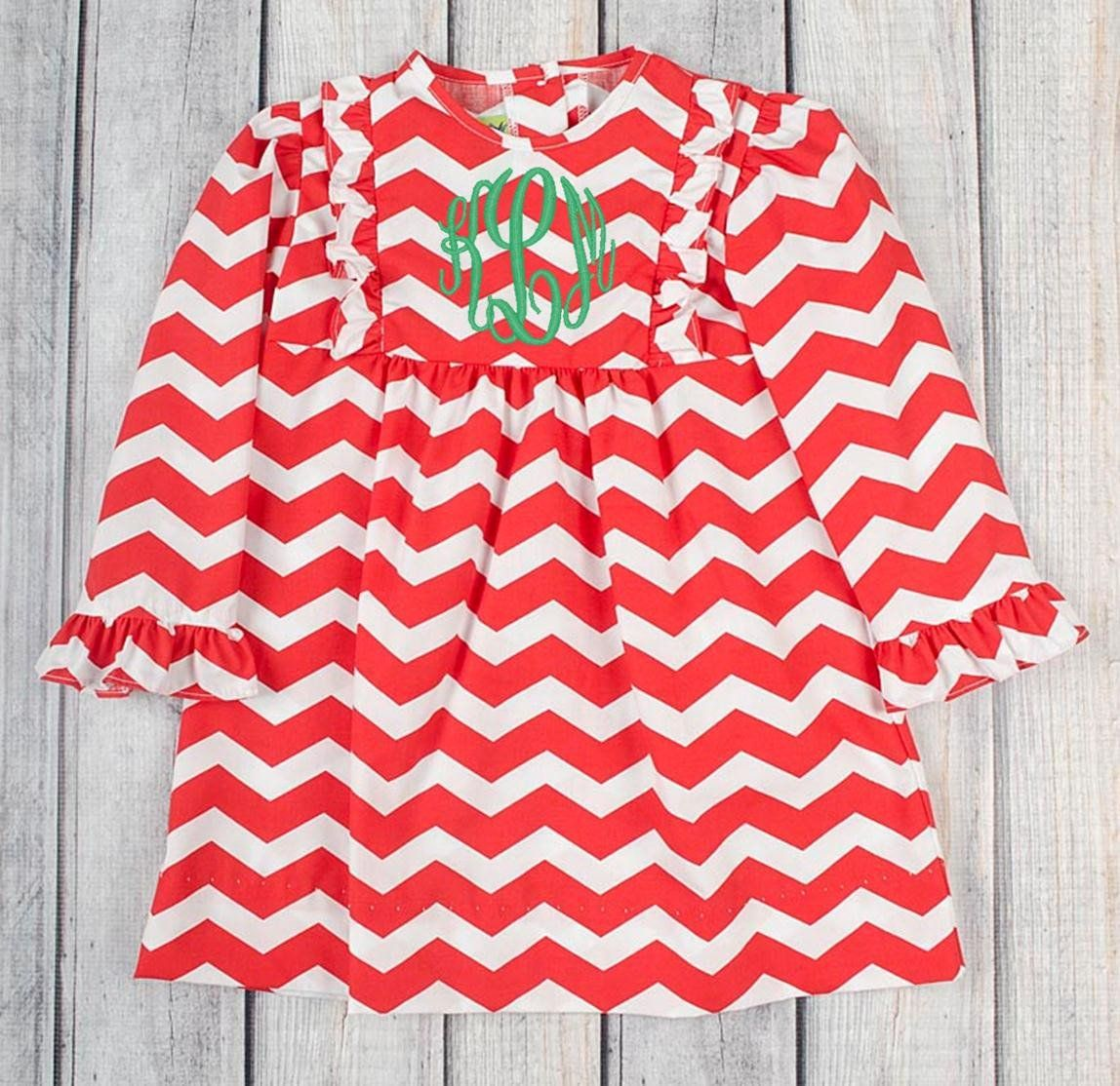 Red/White Chevron Lauren Bib Dress – Stellybelly | Kids Stuff ...