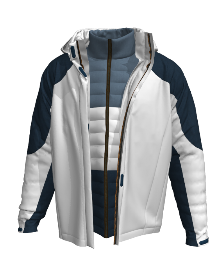 3D virtual Padding Jacket  You can take a look for more information about how to make realistic virtual dress in the website below. http://www.marvelousdesigner.com