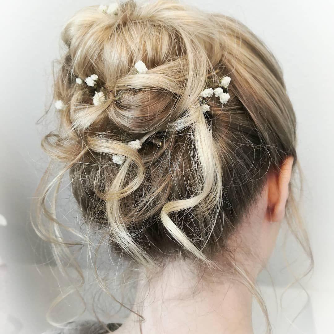 Bride Hochzeitsfrisur Updo Undone Makeup Blonde Cute Bridehair Greta Hasenfuss Hair Accessories Beauty Hair