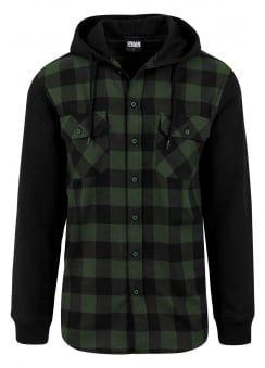 Hooded Checked Flannel Shirt | Roupas masculinas, Roupas da moda