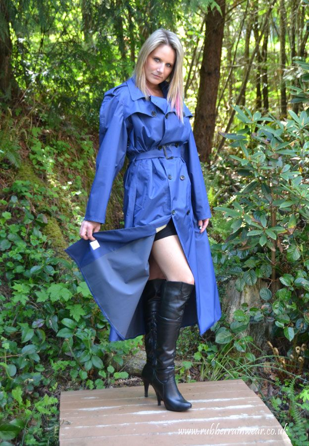 Pin By Rubber Rainwear On Blue Rubber Lined Mackintoshes