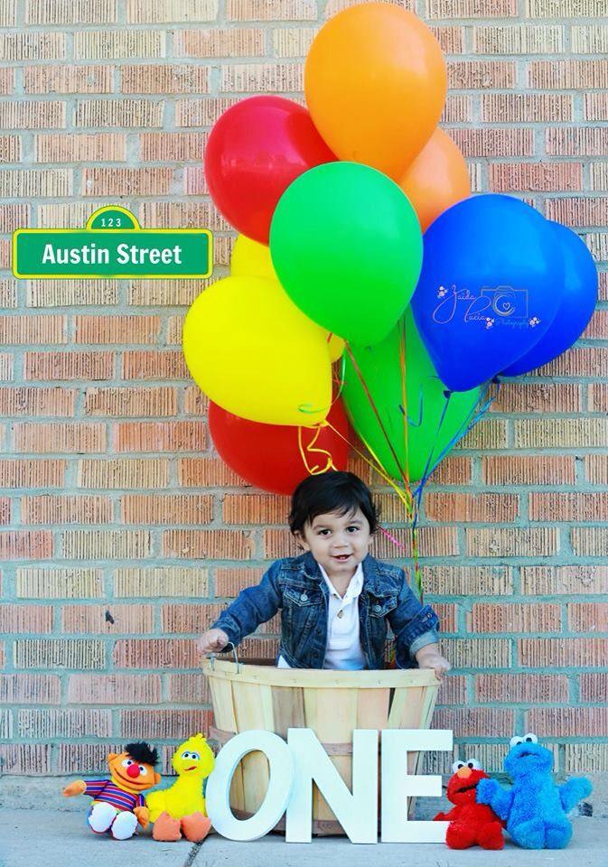 My Son's 1st Birthday Pictures. Sesame Street Theme. ❤️