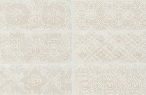 Maiolica Biscuit Ceramic Deco Insert Wall Tile X Wall Tiles - Discount wall tiles online
