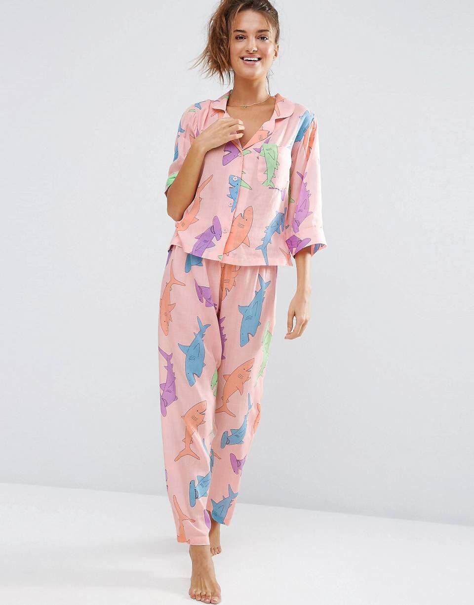 785cc1dd519f Shark Traditional Shirt   Long Leg Pajama Set