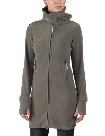 Mujer Largo abrigo moda Para Polar De Abrigo Bench Forro otoño YqH0wO