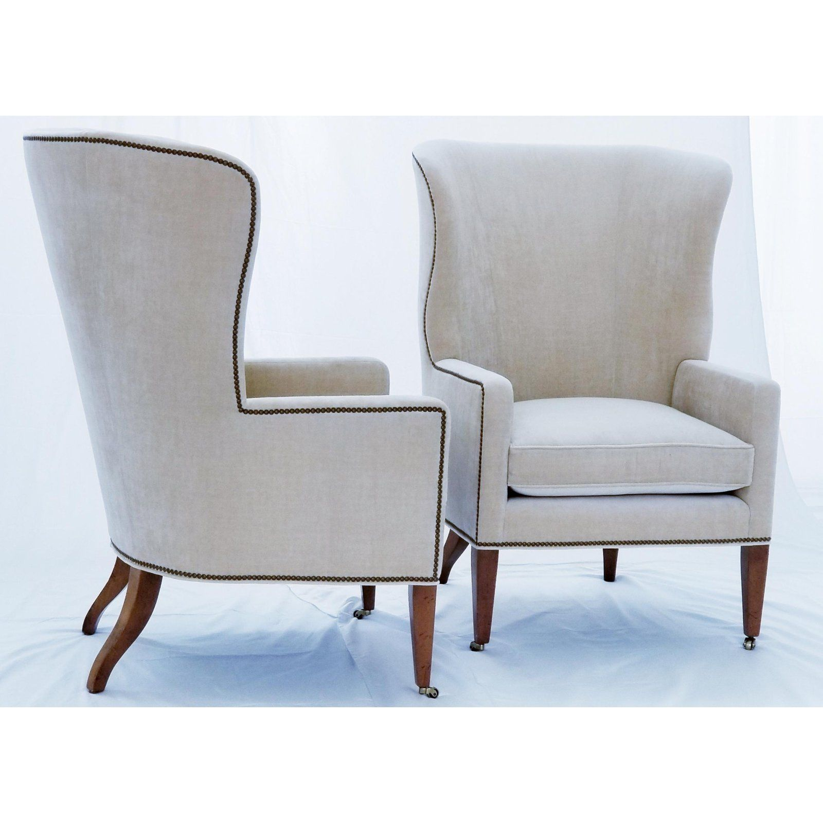 Accent Chairs Sold In Pairs.Baker Furniture Modern Wingback Accent Chairs A Pair In 2019