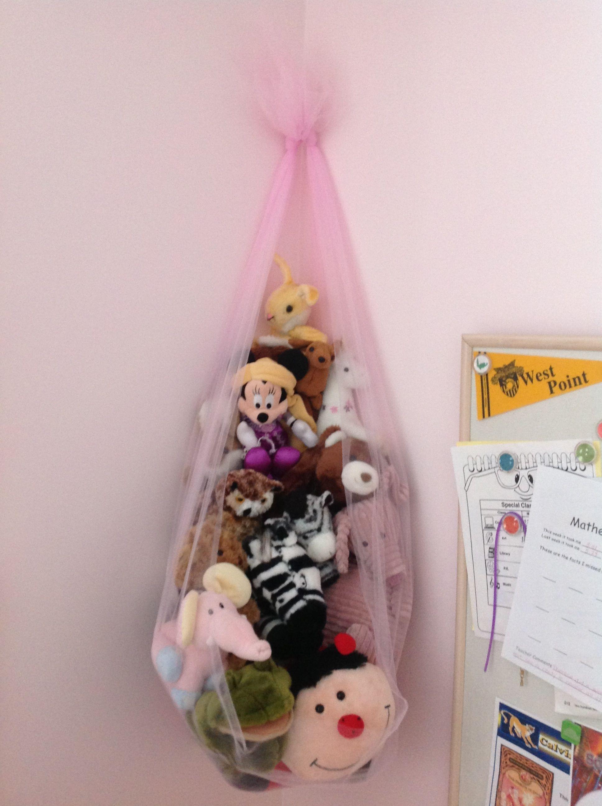 Pin By Elizabeth Briggs On Things I Made Stuffed Animal Storage Organizing Stuffed Animals Stuffed Animal Holder