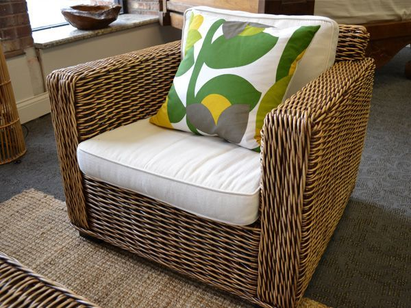 RATTAN CHAIR   Rattan Furniture   Wicker Furniture   Natural Rattan  Armchair   Rustic