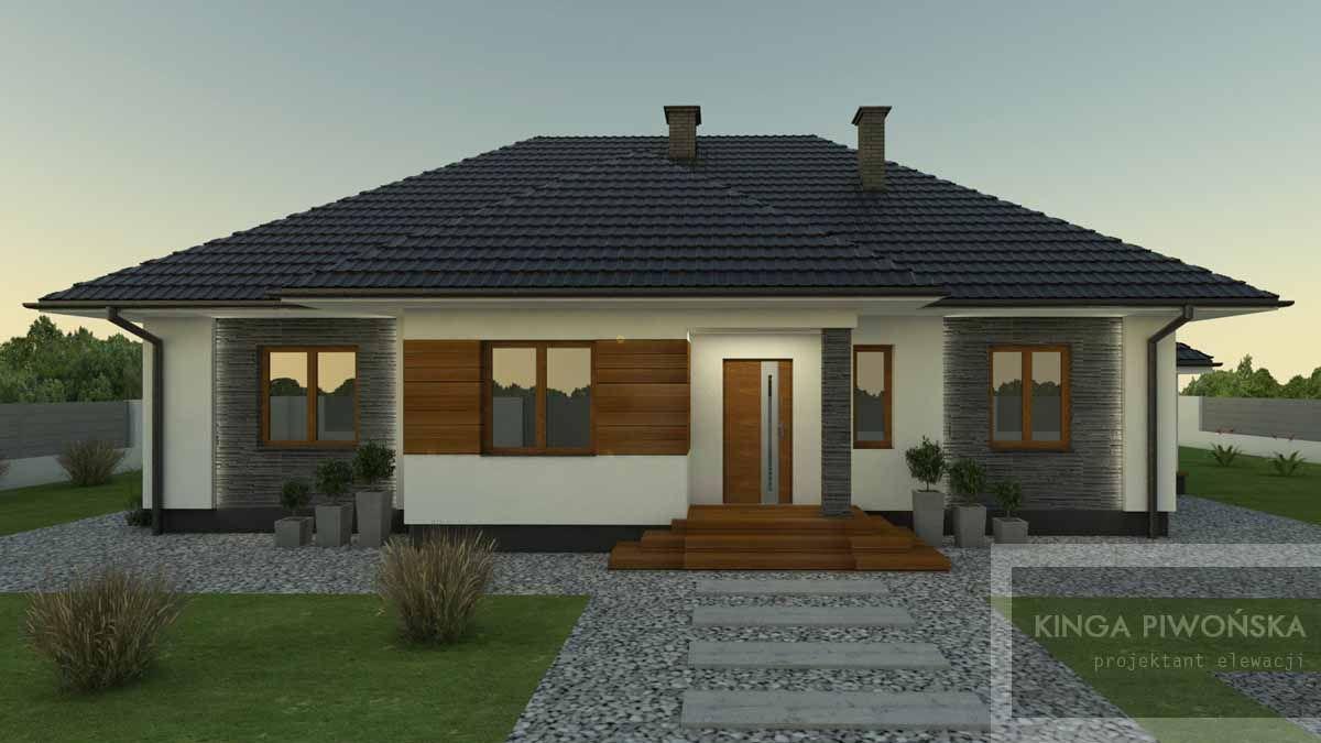 Projekt Elewacji Domu Jednorodzinnego Z Poddaszem 1 Projekty