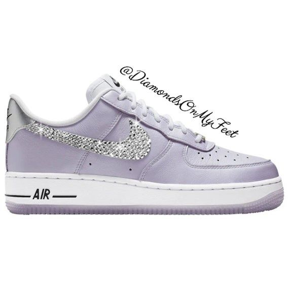 Swarovski Women's Nike Air Force 1 '07 Light Purple Low