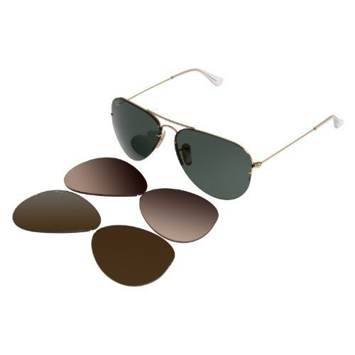 f8e37ce4b6 New Ray Ban RB3460 001 71 Aviator Flip Out Arista Interchangeable Lens 59mm  Polarized Sunglasses by Ray-Ban.  169.95. Ray-Ban® RB3460 AviatorTM Flip Out  ...