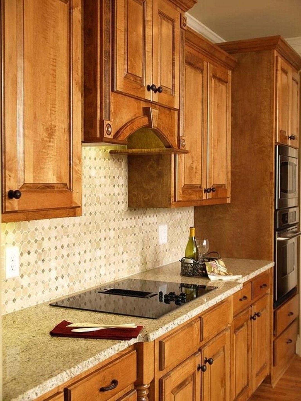 Fantastic Kitchen Backsplash Ideas With Oak Cabinets Trendy