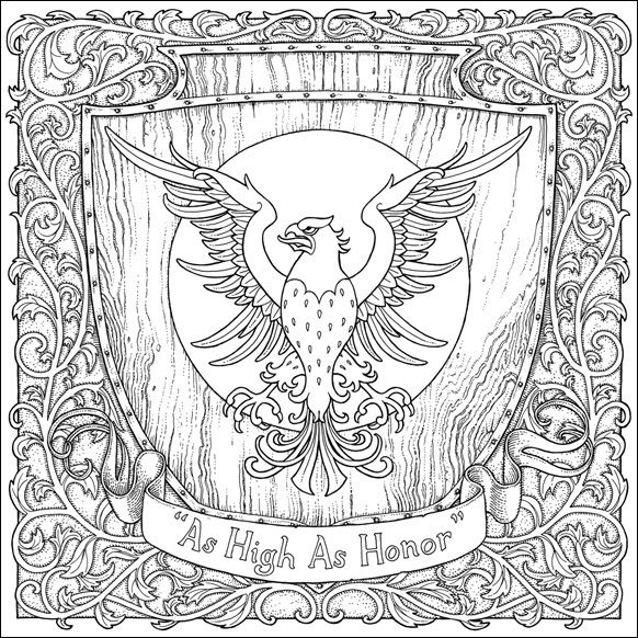 The Official A Game Of Thrones Colouring Book Mandala Coloring