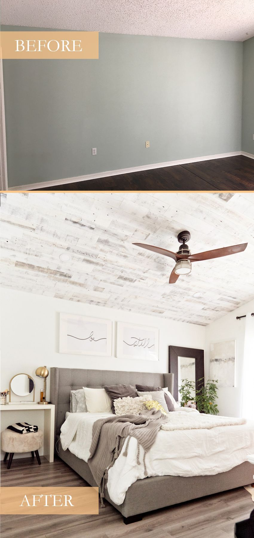 How to Install your Own Reclaimed Wood Ceiling – our Master Bedroom Update images