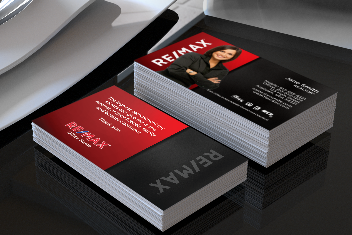 Remax realtors, we've got new business cards just for you ...