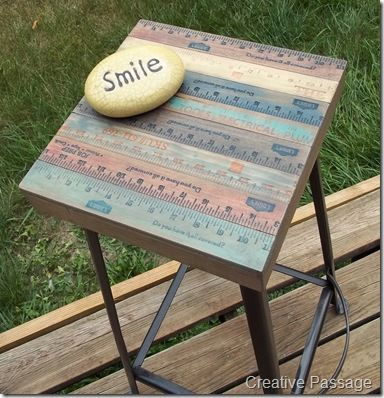 A Visionary Yardstick Stool Makeover    You HAVE To See What This Stool  Looked Like. Cool IdeasDiy IdeasCraft ...