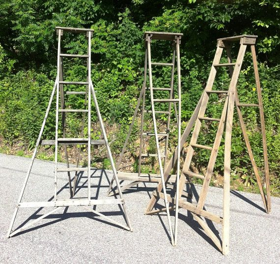 Vintage Orchard Ladder Items Similar To Old Vintage Orchard Apple Ladder From Wisconsin Ladder Vintage Apple Vintage Wooden Crates