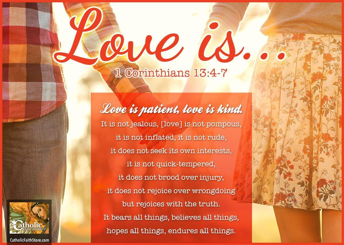 1 Corinthians 13:4-7 Love is patient, love is kind | My Faith ...