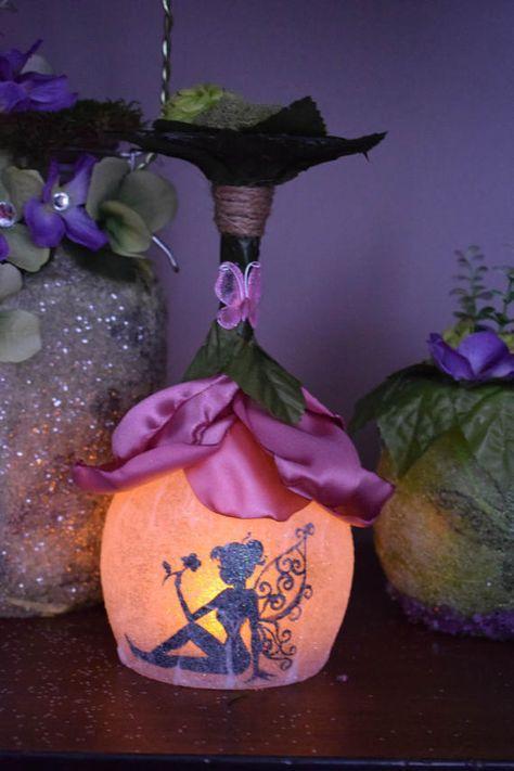 Fairy lantern,fairy flower house night light,fairy centerpiece, fairy light, fairy birthday party decor, fairy party favor,fairy house light #craftsaleitems