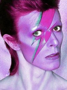 David Bowie Painting - David Bowie Ziggy Stardust Purple by Tony Rubino
