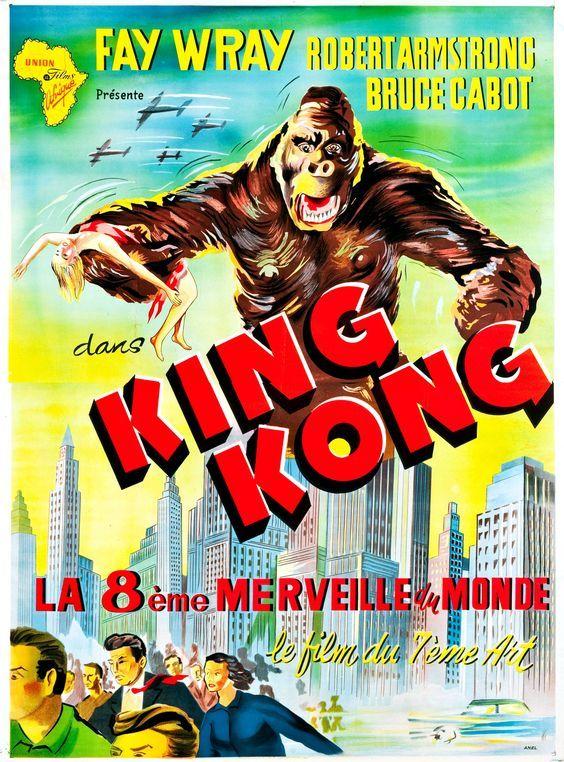 King Kong French Movie Poster 1933 King Kong Movie King Kong King Kong 1933
