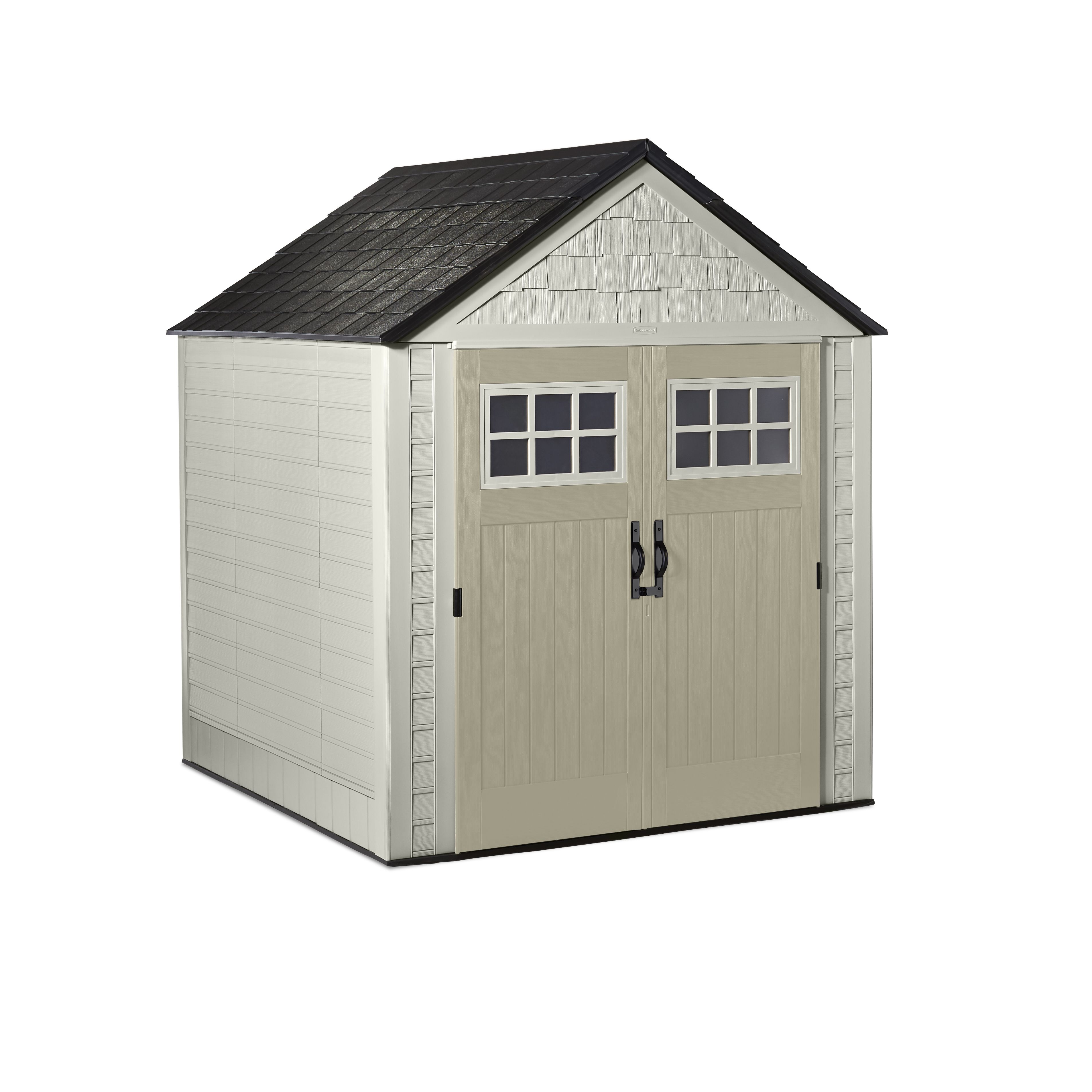 Rubbermaid 7 X 7 Ft Large Vertical Storage Shed Sandstone Onyx