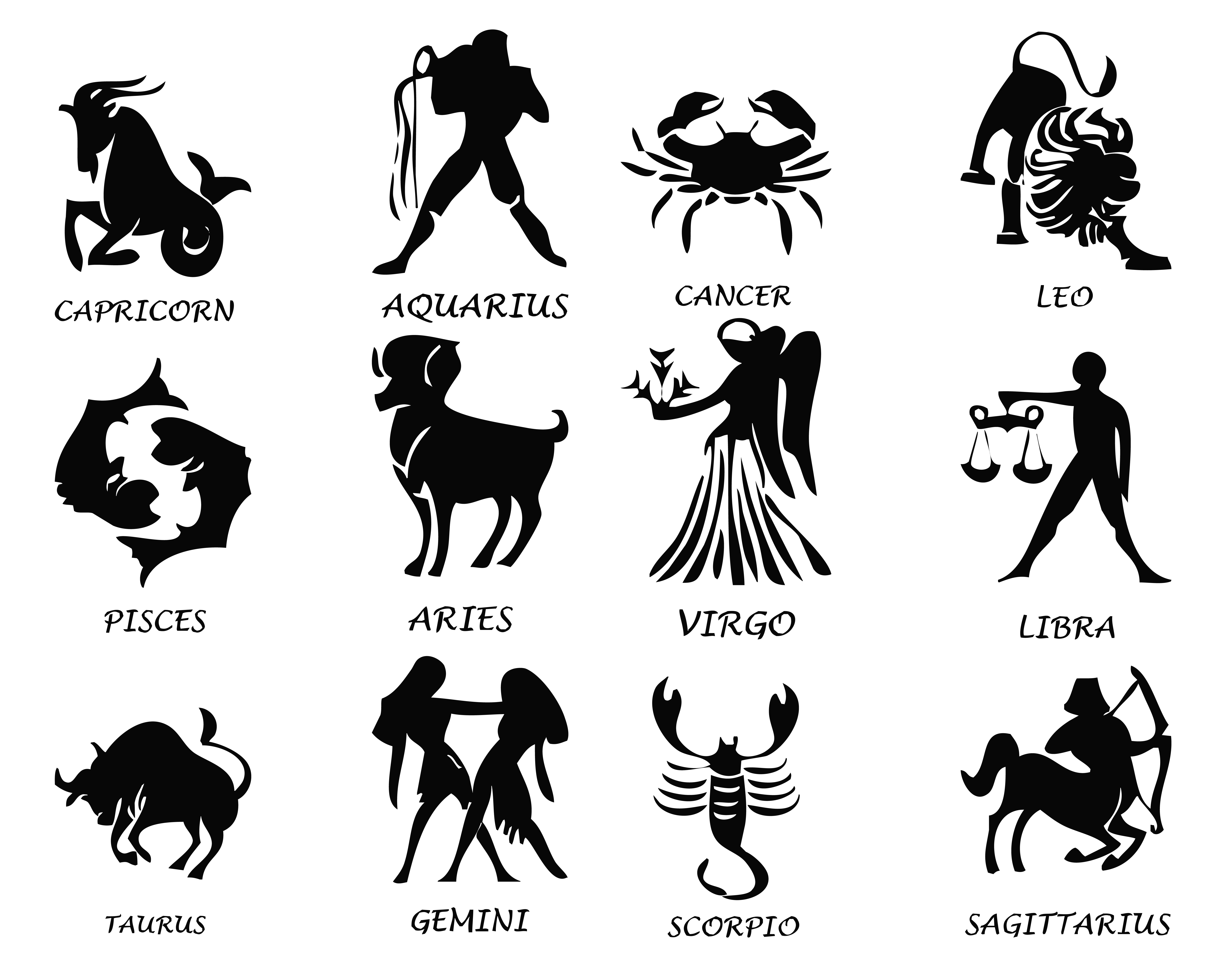 Transparent Zodiac Signs Set Png Image Gallery Yopriceville High Quality Images And Transparent P Lion Illustration Zodiac Signs Symbols Zodiac Star Signs