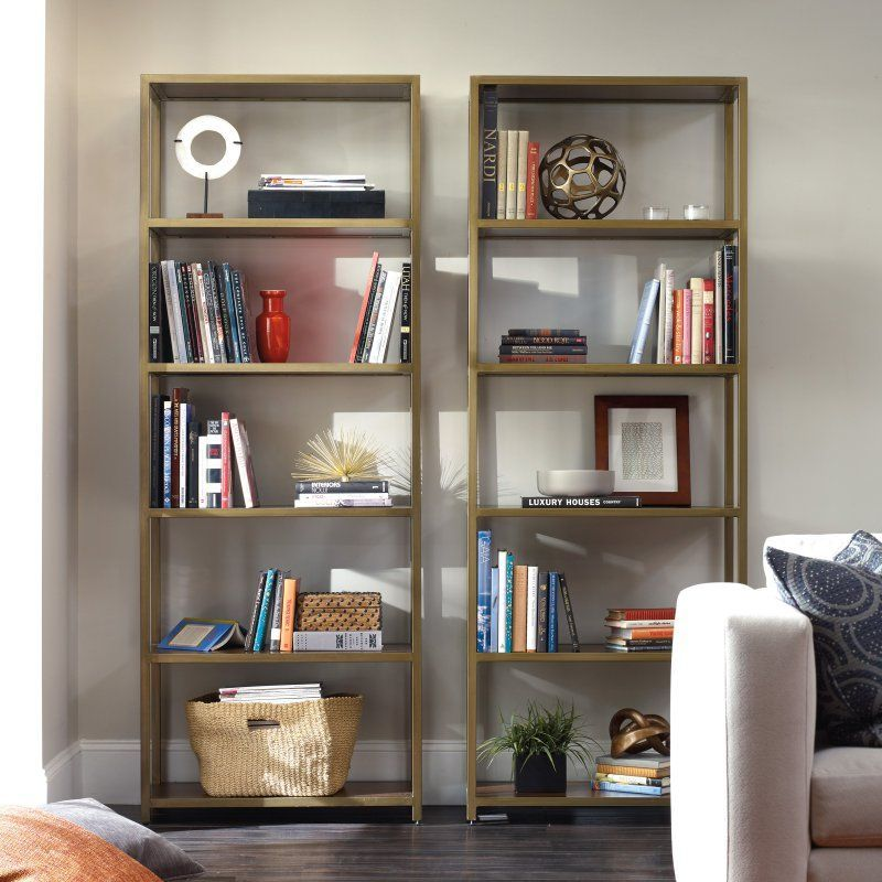 Hooker Furniture Studio 7H NYPL Tall Metal Bookcase - 5398-10443