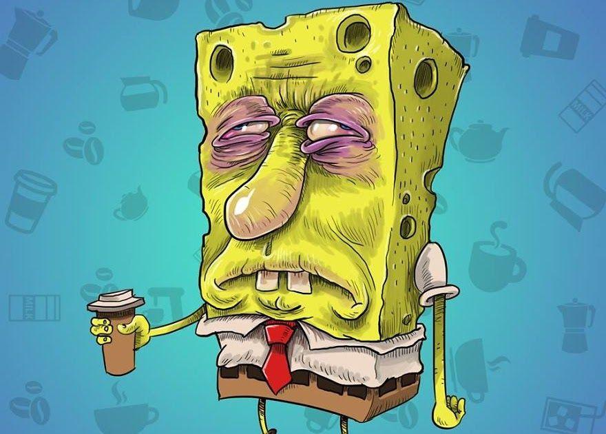 Spongebob Pelangi Imajinasi Di 2020 Spongebob Horor Gambar