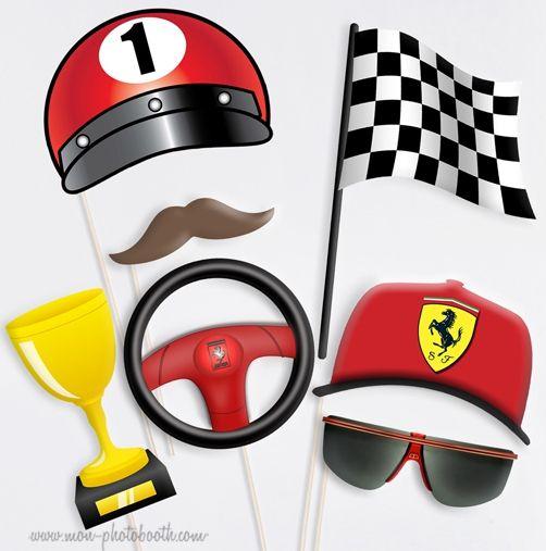 c3b12d74d657b9 Pilote Formule 1 Ferrari Photobooth Accessoires in 2019   CARS   Ferrari  party, Cars birthday parties, Party