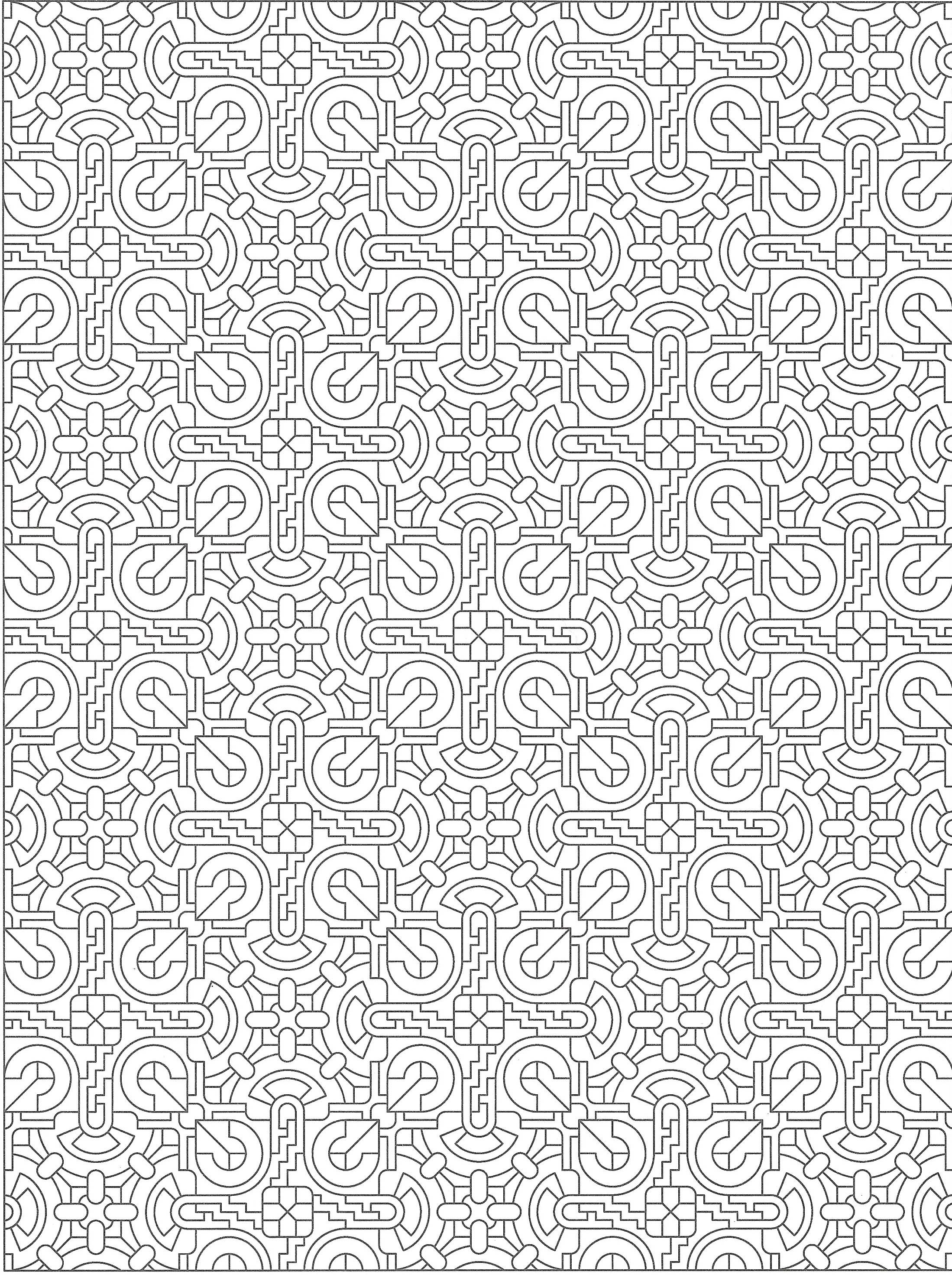Creative Haven Tessellations Coloring Page Pattern Pages Sheets Adult