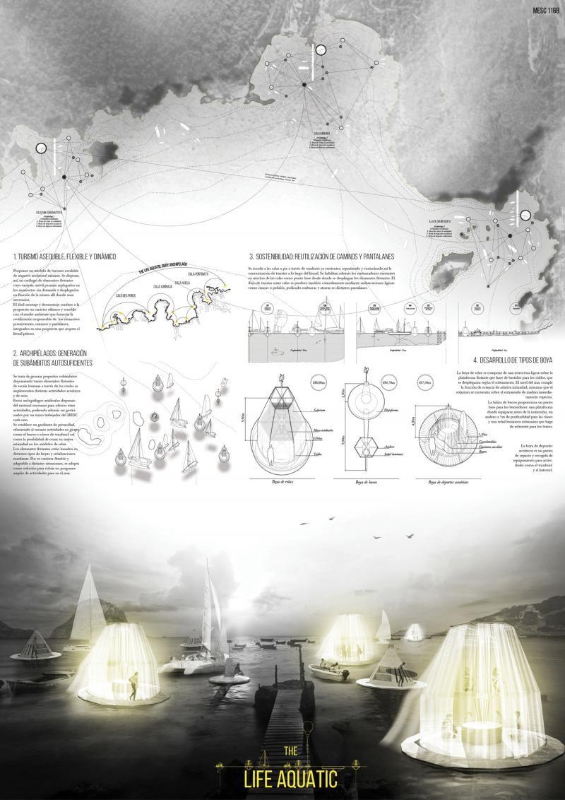 Guillermo Avanzini, Adrián Martínez Muñoz, Alvaro Sancho & Pablo Sequero (2015): The Life Aquatic, Buoy Archipelago, Mediterranean Sea Club (ES), via arquideas.net