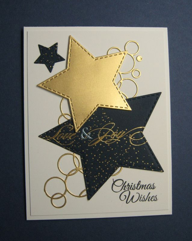 Christmas Stars by Beverly Sue Wilson – Cards and Paper Crafts at Splitcoaststampers