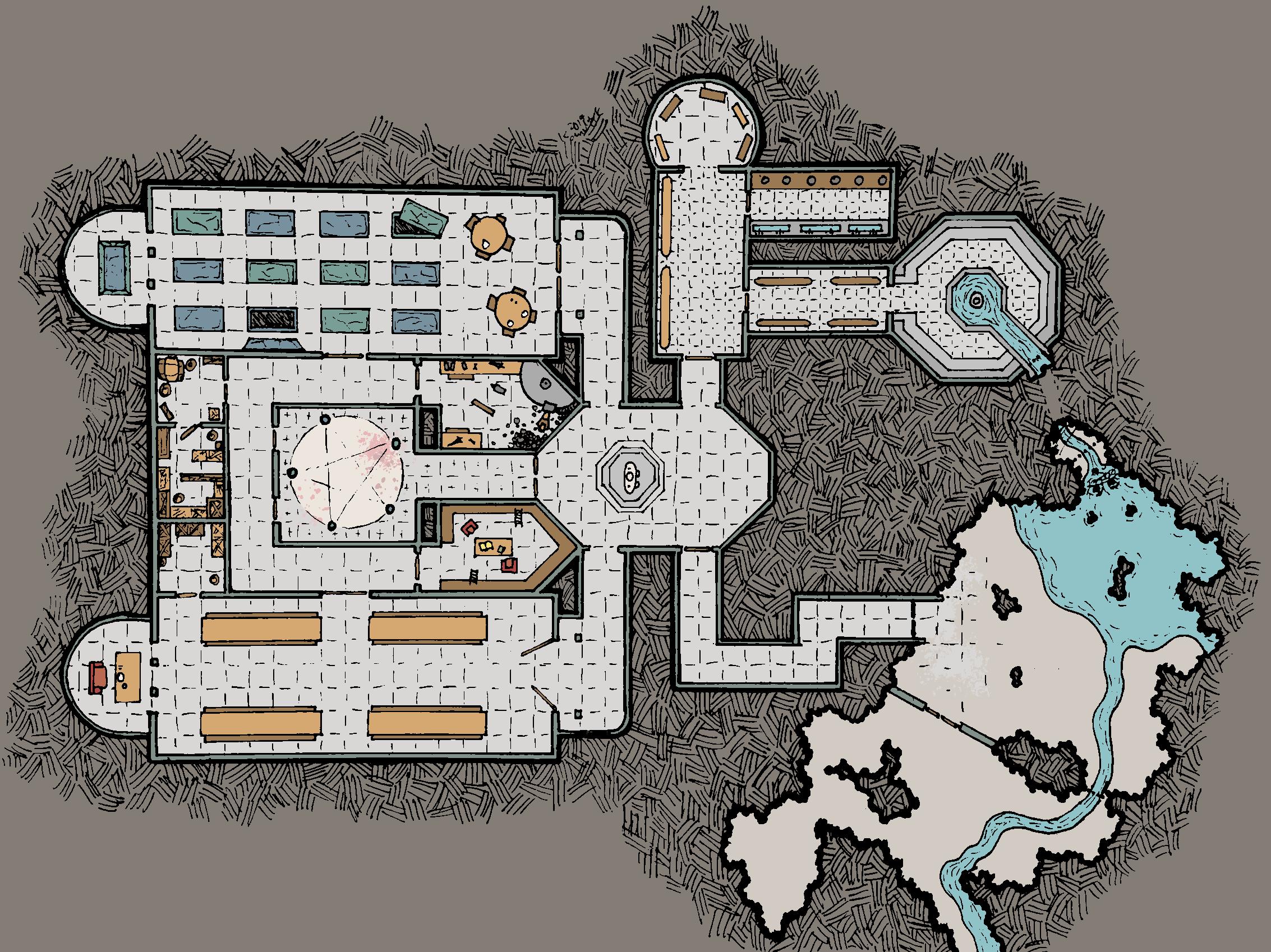 Vampires Underground Hideout Dungeon Maps Fantasy Map Dnd Battle Maps