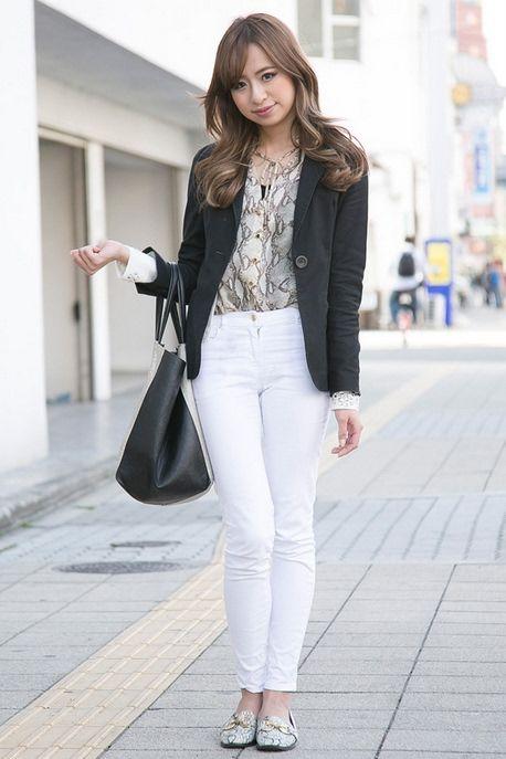Snakeskin Print Matching - Japan Street Fashion