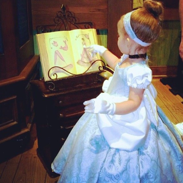 Planning her next dress...