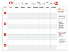 Creating A Roommate Chore Chart In 5 Easy Steps My Move
