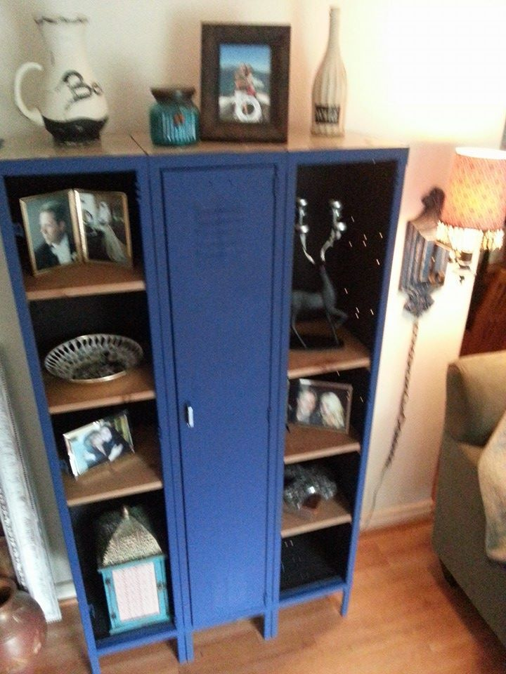Metal School Locker- Using Amy Howard Chalk Paint