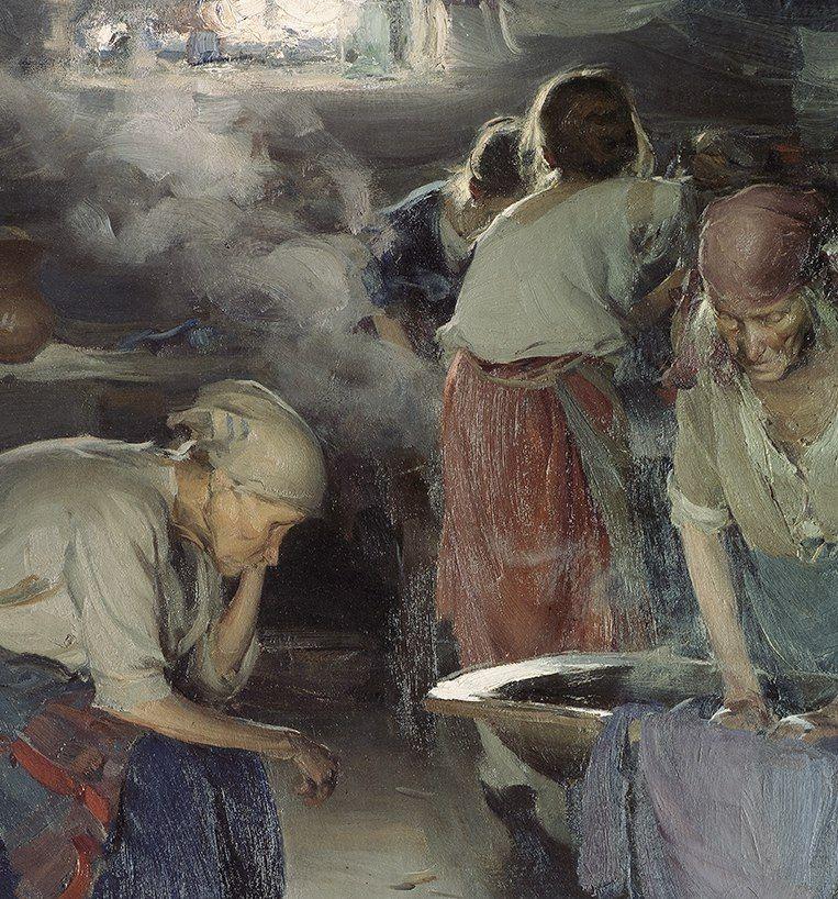 Абрам Архипов – Прачки, Конец 1890-х; деталь | Государственная Третьяковская галерея