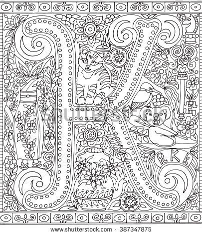 Floral Letters Coloring Getcoloringpages Org Alphabet Coloring Pages Flower Coloring Pages Coloring Letters