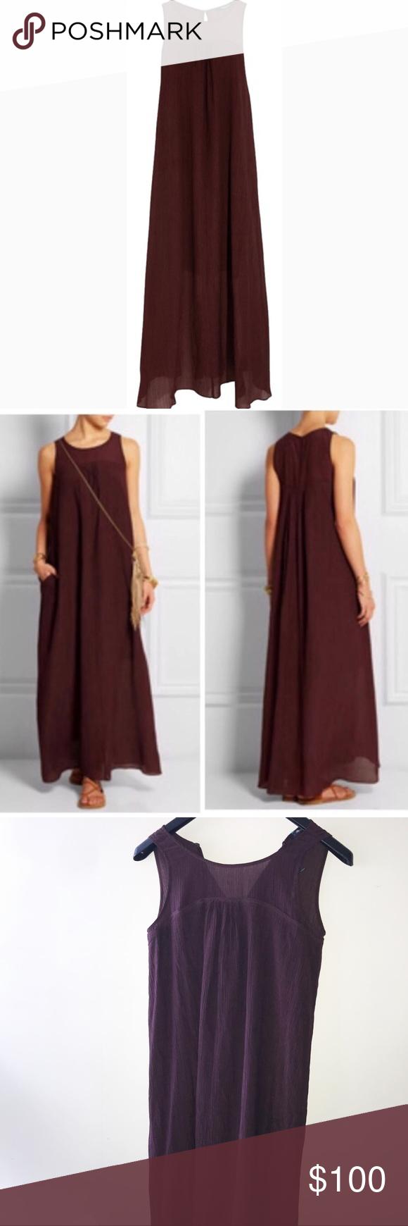 36da92dd2f NWT Madewell Maroon Maxi Dress Size XS NWT Madewell maxi dress size XS.  Burgundy